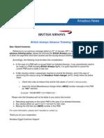British Airways Advance Ticketing Rule