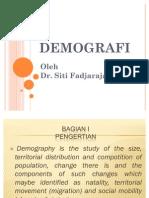 Konsep Dasar Demografi - Siti Fadjarajani