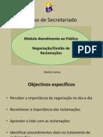 CURSO SECRETARIADO GESTÃO RECLAMAÇÕES