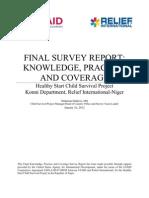 Final KPC Survey Report_Relief International Healthy Start Child Survival Project-Niger_Jan 2012