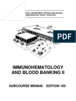 US Army Medical Course MD0846-100 - Immunohematology and Blood Banking II