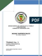 TRABAJO No. 3 - CUENCA HIDROGRÁFICA RIO CONEJALES