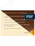 Computer Room Guidelines