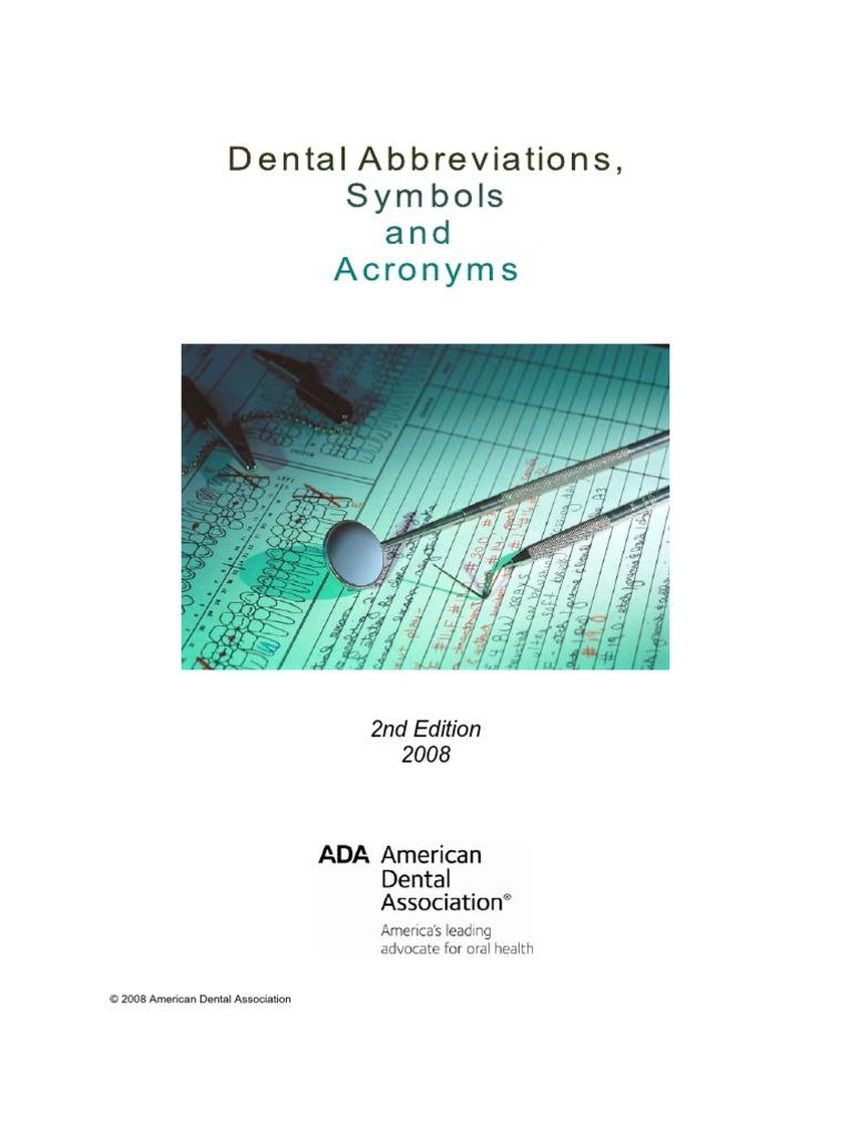 Dental practice abbreviations medical prescription dentistry buycottarizona