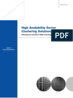 High Availability Server Clustering Solutions