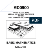 US Army Medical Course MD0900-100 - Basic Mathematics