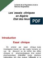 Essais Cliniques en Algérie - Etat des Lieux 2011