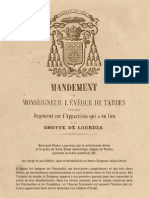 150ème anniversaire de la reconnaissance des apparitions - Texte du mandement
