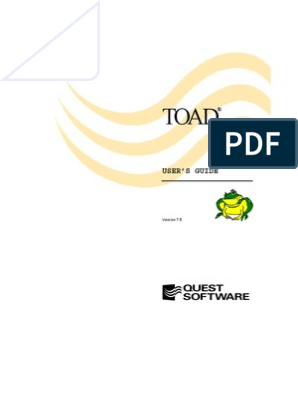 TOAD User's Guide | Oracle Database | Sql