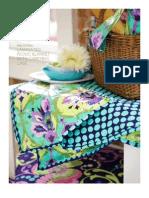 Amy Butler Laminated Picnic Blanket