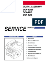 Service Manual for Samsung MFP SCX 4016F 4216F