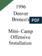 96 Denver Broncos Mini Camp Offense