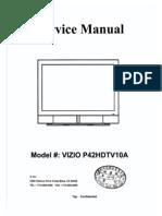 Vizio p42hdtv10a Service Manual