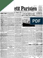 Le Petit Parisien, 16/04/1912, pag 01