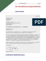 Nederlands Handelscorrespondentie 3de Graad