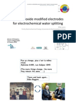 Hydrous Oxide Modified Electrodes for Electrochemical Water Splitting TCD Chemistry Seminar January 2012