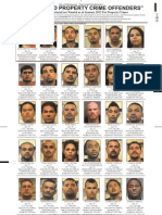 Most Wanted Property Crime Offenders - Jan 2012