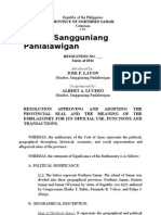 Resolution Approving and Adopting the Provincial Seal and the Meaning of the Emblazonry for its Official Use, Functions and Transactions