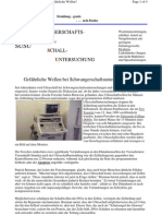 Ultraschall - Ultraschalluntersuchungen - wie gefährlich sind sie