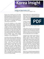 Volatility and Opportunity in 2011 by Jack Pritchard and Abraham Kim