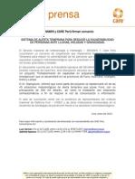 Senamhi y Care Peru Firman Convenio