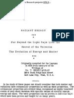 Moray Radiant Energy 1926