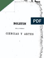 Boletin Sociedad Ciencias Artes 1880