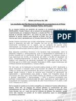 Boletín Los resultados del Plan Nacional de Desarrollo se presentaron en el Primer Gabinete Ampliado Público del Ecuador