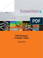 Surpac DTM Surface Tutorial