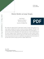 Mark Wexler- Matrix Models on Large Graphs