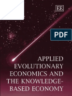 Applied Evolutionary Economics and the Knowledge Based Economy
