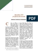 Benedicto XVI y la Fuerza de la Razón