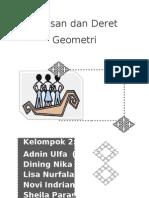 Barisan Dan Geometri Kel2