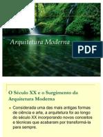Arquitetura Moderna( trabalho prática de obras)