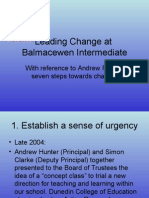 Leading Change at Balmac