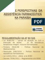 ANÁLISE E PERSPECTIVAS  DA ASSISTÊNCIA FARMACEUTICA NA PARAÍBA