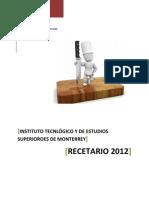 Recetario Principiantes 2012