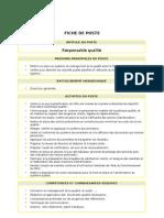 Fiche de Poste Du Gestionnaire de Stock   Inventaire ...