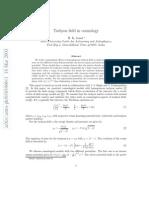 H. K. Jassal- Tachyon field in cosmology
