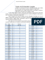 Tabela ASCII Estendida Completa
