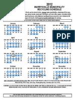 664 2012 Recycling Calendar - November 9, 2011