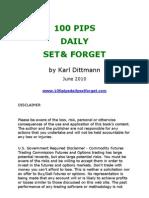 100 Pip Daily by Karl Dittman