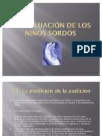 La evaluación de los niños sordos