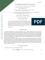 Shin'ichi Nojiri et al- Screening of cosmological constant in non-local gravity