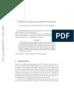 A.A. Andrianov, F. Cannata and A. Y. Kamenshchik- Complex Lagrangians and phantom cosmology