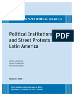 Political Institutions and Street Protests