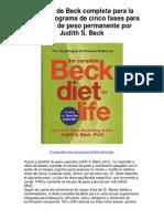 La dieta de Beck completa para la vida el programa de cinco fases para pérdida de peso permanente por Judith S Beck - 5 estrellas revisión