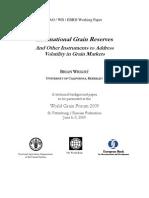Wright International Grain Reserves 090719