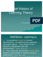 Theories of Learning by Dr. P.N.Narayana Raja