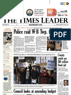 Times Leader 01-21-2012 | Wilkes Barre | Assault
